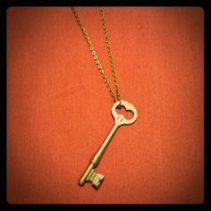 Antique skeleton key necklace Antique skeleton key necklace, circa 1940s-50s, 3 inches. Jewelry Necklaces
