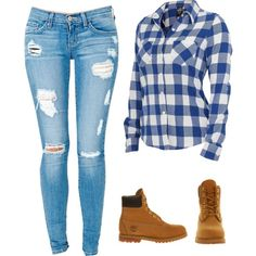 A fashion look from August 2013 featuring Timberland ankle booties. Browse and shop related looks.