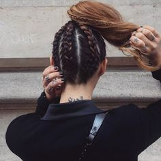Cornrow braids looks really unique and chic so why not have this gorgeous hairstyle? In our gallery you will find Best Cornrow Hairstyles images that you Pretty Hairstyles, Braided Hairstyles, Braided Ponytail, Viking Hairstyles, Softball Hairstyles, Sweet Hairstyles, Hairstyle Ideas, Simple Hairstyles, Dress Hairstyles