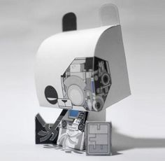 Panda Robot Paper Toy - by Tougui