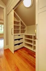 idea for storage on slanted wall