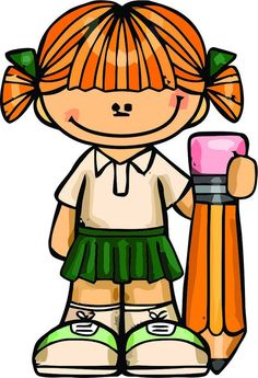 Wall Decals for Classroom Decor Decoration and Design Decals on Walls - Cute Girl w/Pencil Creative
