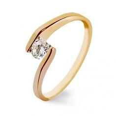 Anillo de compromiso oro rosa y diamantes