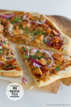 BBQ Chicken Pizza | www.tasteandtellblog.com