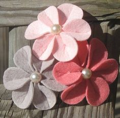 Felt Flower Headband Baby Headband Flower by MyKidsCuterBowtique, $9.99