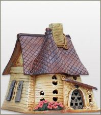 Windy Meadows Pottery--Handbuilt Stoneware Cottages and Candlehouses Clay Houses, Ceramic Houses, Miniature Houses, Miniature Fairy Gardens, Ceramic Clay, Clay Fairy House, Fairy Houses, Just Miniatures, Clay Fairies