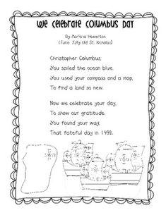 We Celebrate Columbus Day Song for ELA