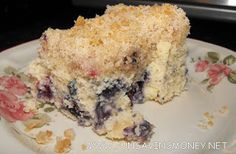 Blueberry Buckle Recipe-I will conquer the blueberries we picked today!