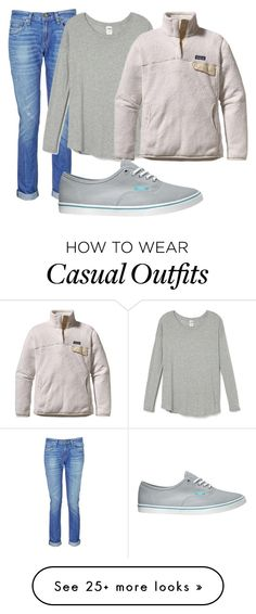 """""""Casual #1"""" by laurenzygarewicz on Polyvore featuring rag & bone, Patagonia and Vans"""