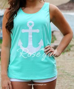 Stylish Scoop Collar Sleeveless Anchor Print Bowknot Design Women's Tank Top