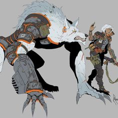 Lycans: Alpha. Alpha's lead their packs through example and strength. Their mastery over the Lycan state helps them strike the balance between ferocious beast and calculating human. Leading by example they fight on the frontlines. #conceptart #characterdesign #occult #scifi #fantasy