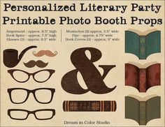 The perfect finishing touch to your literature-themed wedding or party, these personalized props add literary elegance and library charm to
