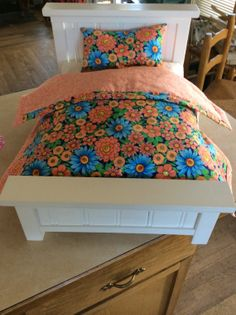 American Girl Doll/18 Doll Bed with by atticcollectables on Etsy
