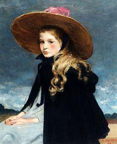 Henri Evenepoel - Henriette with the big hat by Henri Evenepoel