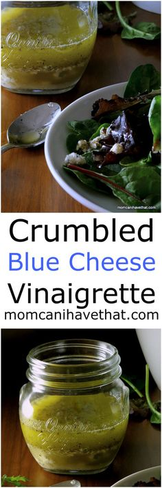 Crumbled Blue Cheese Vinaigrette is especially great on a steak salad   low carb, gluten-free,  