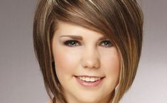 Short-hairstyles-for-round-faces-with-cute-side-bangs