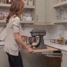 save some space in your kitchen Kitchen Sink Design, Luxury Kitchen Design, Home Decor Kitchen, Interior Design Kitchen, Kitchen Furniture, Kitchen Sink Lighting, Kitchen Appliance Storage, Kitchen Organization, Kitchen Island Storage