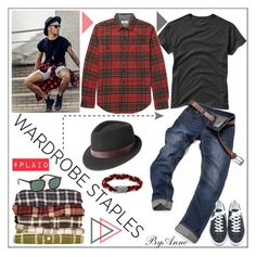 """Polyvore contest #plaid"" by anne-977 ❤ liked on Polyvore featuring ADAM, Gap, J.Crew, Bailey of Hollywood, John Hardy, Prada, men's fashion, menswear, plaid and WardrobeStaples"