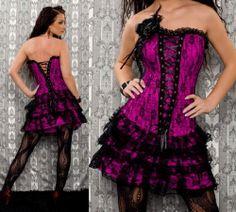 robe corset violette lacets devant et derrière