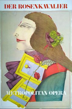R Linder Metropolitan Opera Der Rosenkavalier 1978 lithograph poster mint in Art, Art from Dealers & Resellers, Posters | eBay
