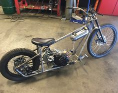 The MiniHog mini bike Custom Moped, Custom Motorcycles, Custom Bikes, Tracker Motorcycle, Bobber Motorcycle, Mini Chopper, Motorised Bike, Mini Monster, Minibike