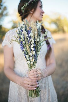 This is my bouquet. Wildfower Wedding Brides Bouquet of Lavender Larkspur Wheat and other dried flowers Lavender Bouquet, Lavender Flowers, Dried Flowers, Lavender Ideas, Lavender Blue, White Flowers, Wedding Bride, Rustic Wedding, Wedding Flowers