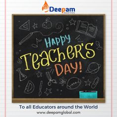 Deepam Global wishes a very warm & Happy Teacher's Day to all Educators around the World!!! #HappyTeachersDay #TeachersDay #DeepamGlobal www.deepamglobal.com Happy Teachers Day, O Design, Teachers' Day, Displaying Collections, Vector Photo, Blackboards, Vector Free, Education, Trust