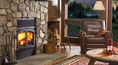 Regency prefabricated fireplaces are available as a self-contained unit designed to sit inside the opening of a traditional fireplace. Regency prefabricated fireplaces use an air cooled, multi-layered flue making a masonry chimney unnecessary.