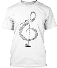 Show your BAND MOM pride with this ornate Musical Clef tee!  Great for middle school/high school/college/marching bands!