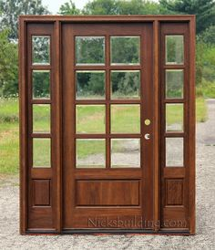 8 lite exterior door and sidelights with Clear Beveled Glass