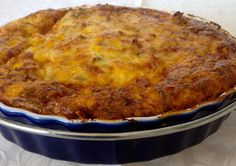 Chicken and Corn Impossible Pie (Thermomix Method Included) - Mother Hubbard's Cupboard Savoury Baking, Savoury Dishes, Mince Recipes, Cooking Recipes, Budget Recipes, Impossible Pie, Bisquick Recipes, Carbquik Recipes, Light Recipes