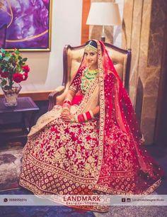 #Brideoftheday..!!  #Featured #Landmarkdesignerstudio #EthnicWear #DesignerOutfits #Chandigarh