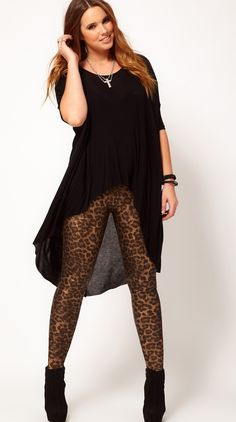Fabulous Plus Size Trends for Fall 2013 Animal Print don't judge me lol i like it! Just wish the shirt kinda covered the crotch a little more. -Mallory