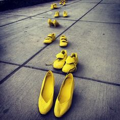 #Yellow footsteps