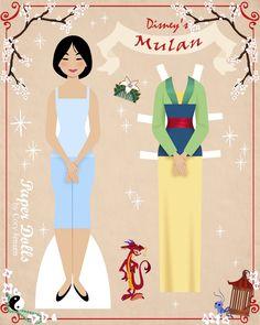 mulan 1 | paper dolls by cory
