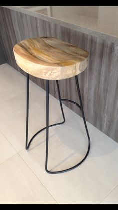 Tractor Stool w/ Black Painted Cast Iron Frame.