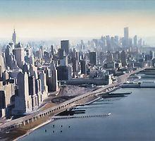 """""""Manhattan Memories"""" New York Watercolor par Paul Jackson"""