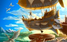 Airships Make Me Happy by *FreckleOnMyPalm on deviantART