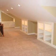 Storage ideas for knee wall