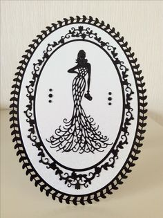 Made with the Tonic Ornate Frame die and a free die from a Tattered Lace magazine Tonic Cards, Glamour Ladies, Tattered Lace Cards, Studio Cards, Dress Card, Elegant Lady, Die Cut Cards, Lace Design, Greeting Cards Handmade