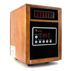 The Dr. Infrared Heater Elite Series Portable Infrared Space Heater with Humidifier and Oscillation Fan features a dual heating system with infrared. Portable Propane Heater, Portable Space Heater, Heat Warmers, Infrared Heater, Electricity Bill, Surefire, Humidifier, Heating Systems, Wood Construction
