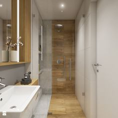 House near Krakow - complete space - small bathroom without a window in the block - image of WERDHOME