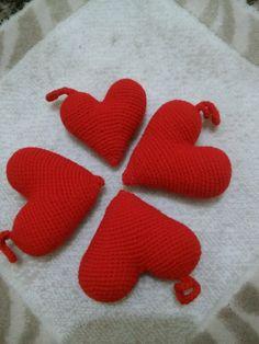 amigurumi heart ,amigurumi kalp, örgü free pattern