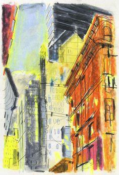 Idir Davaine / New York 6 - 2013 Crayons sur papier