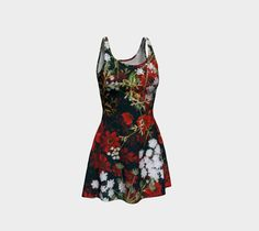 """Flare+dress+""""Floral""""+by+Mixed+Imagery"""
