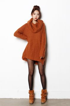 I love oversized sweaters