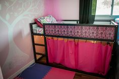 ikea-kura-bed-makeover- this may be the best Kura bed hack yet. Now, how to do similar for a boy :-)
