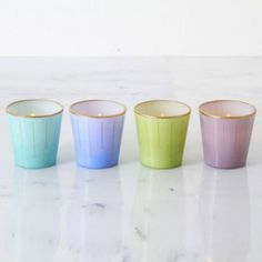 These pastel tealight candle holders will have you relaxed in no time, $3.25