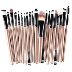 100% brand new and superior quality guarantee. Quantity: 20pcs/set Item type:makeup brush Material:Goat hair Handle material:Wood Brush material:Synthetic Hair Easy to stick powder, natural color, ren