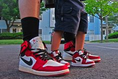 Like father like son....can't wait for daddy and baby to have matching shoes!!